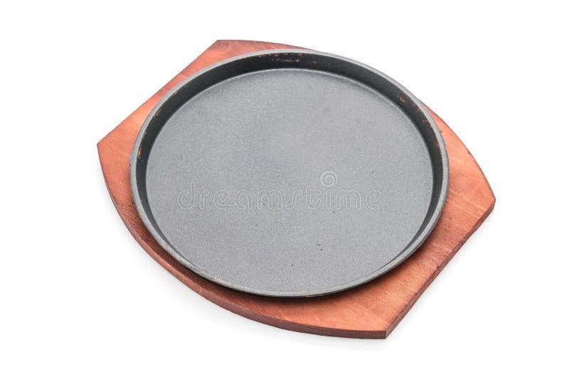 Bistecca della casseruola (piastra riscaldante) immagine stock libera da diritti