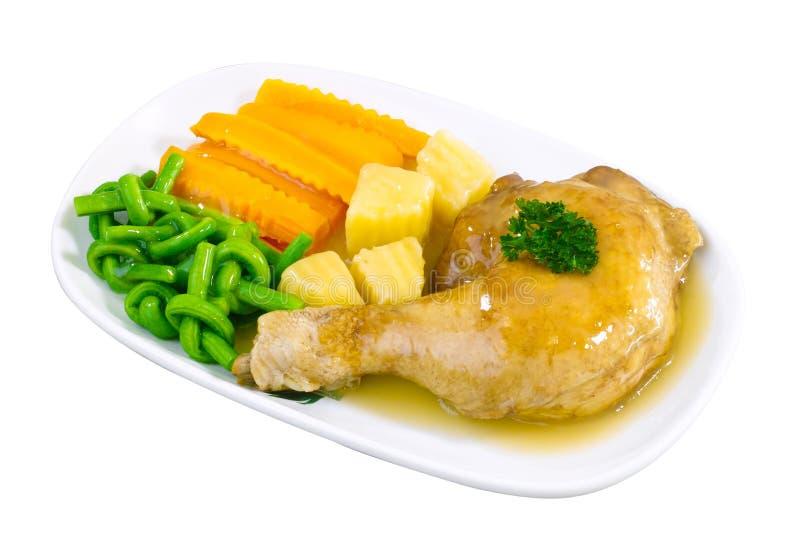 Bistecca della coscia del pollo fotografia stock libera da diritti