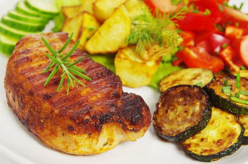 Bistecca della frittura immagini stock libere da diritti