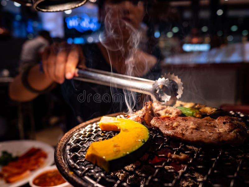 Bistecca della griglia del barbecue immagine stock libera da diritti