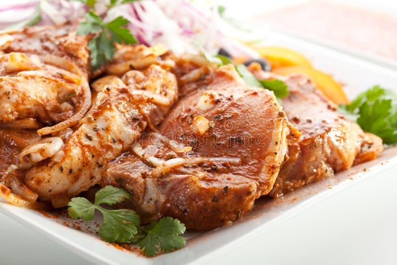 Bistecca della lonza di maiale fotografia stock