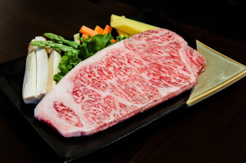 Bistecca dello striploin del manzo di Wagyu immagine stock libera da diritti