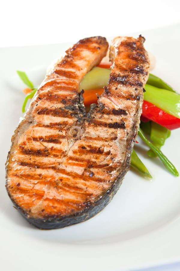 Bistecca di color salmone fotografie stock