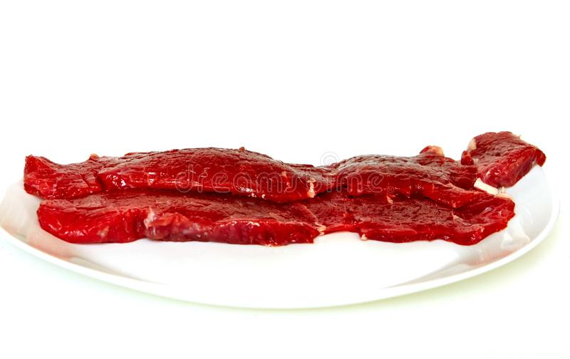 Bistecca di controfiletto fresca del manzo fotografia stock