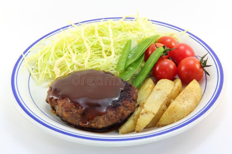 Bistecca di hamburger fotografie stock libere da diritti