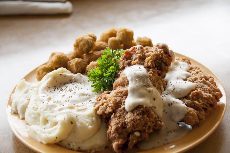 Bistecca fritta pollo fotografie stock