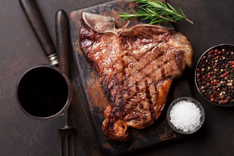 Bistecca nella lombata fotografia stock