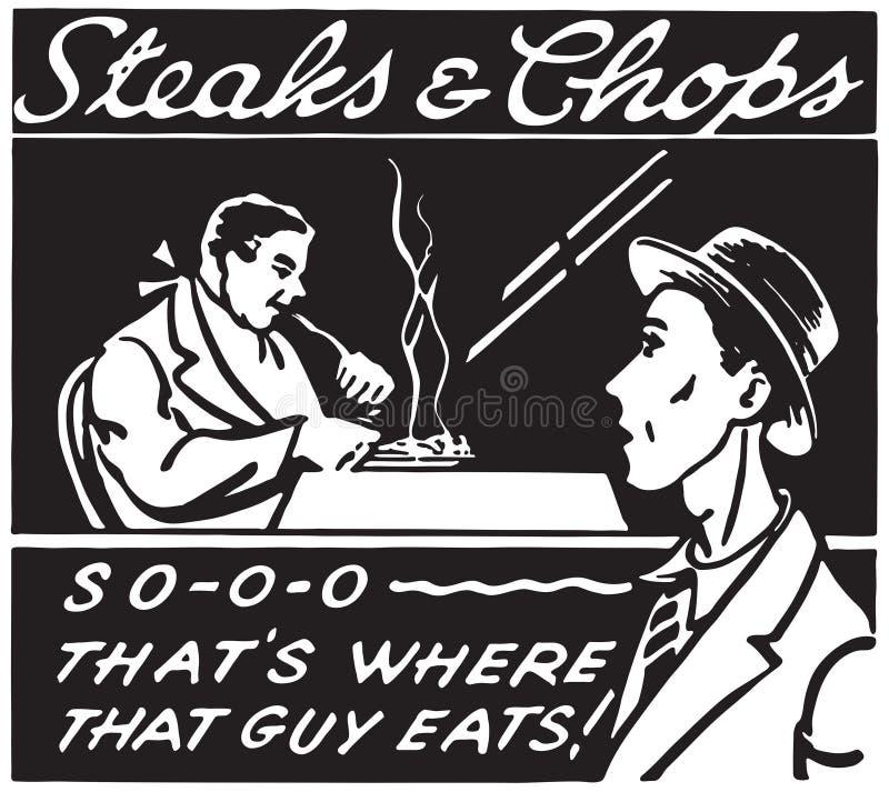 Bistecche e tagli 5 illustrazione di stock
