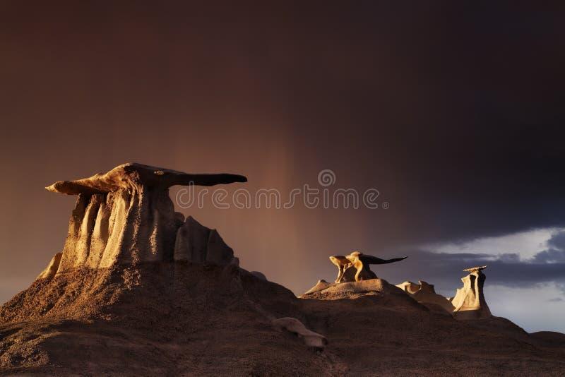 Bisti荒地,新墨西哥,美国 免版税库存图片