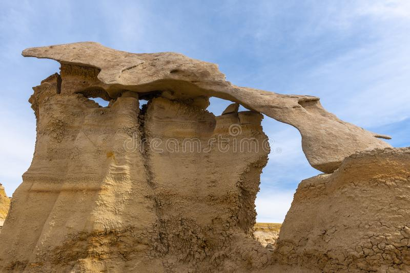 Bisti/De-Na-Zin Wilderness Area, New Mexico. USA royalty free stock images