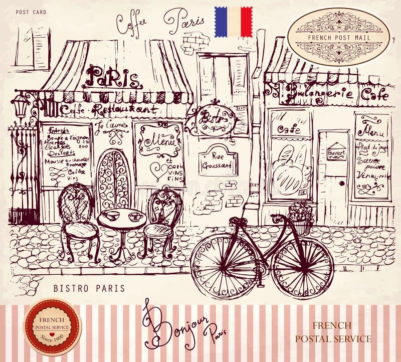 Bistro του Παρισιού ελεύθερη απεικόνιση δικαιώματος