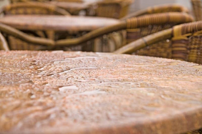 Bistro mokry stół zdjęcie royalty free