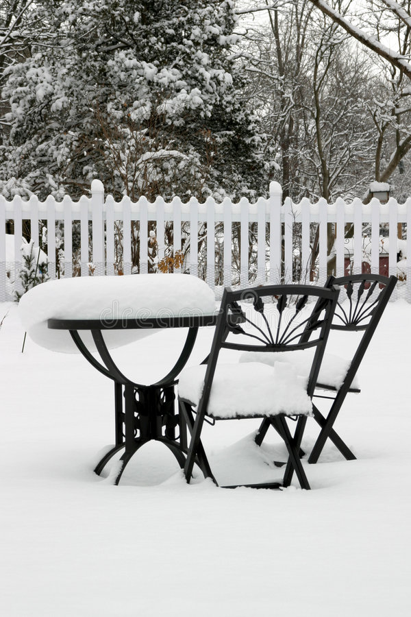 Bistro Set at Rest stock photography