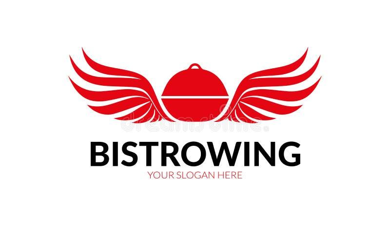 Bistro Wing Logo vector illustratie