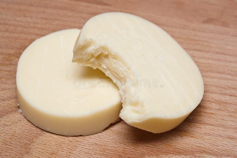 Bit Cheese Slices Royalty Free Stock Photos