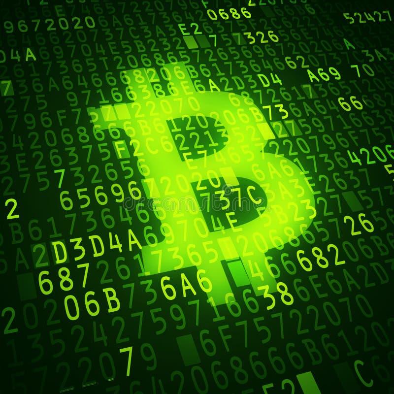 Bit coin symbol. As virtual currency symbol. Conceptual image