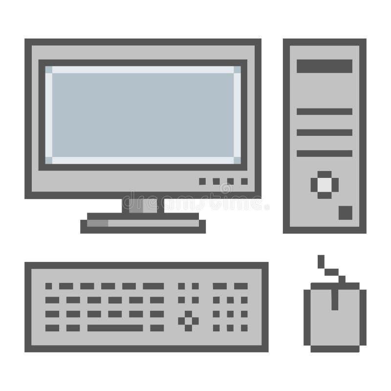 Bit de l'ordinateur 8 d'art de pixel illustration de vecteur