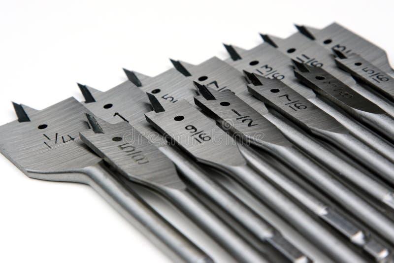 Bit della pala dei carpentieri fotografia stock