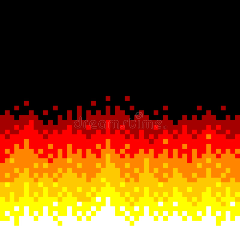 8-Bit Pixel-art Fire Background. Each color is saved on a different layer vector illustration