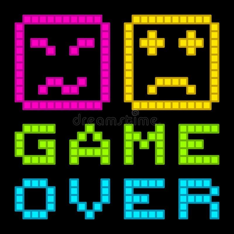 Download 8-Bit Pixel-Art Retro Arcade Game Over Message. EPS8 Vector Stock Vector - Image: 41946037
