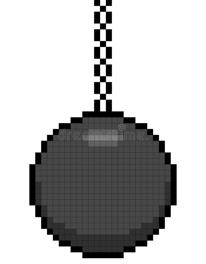 Download 8-bit Pixel Art Wrecking Ball On A Chain Stock Photo - Image: 36023000