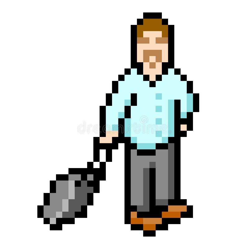 Download 8-bit Pixel Businessman stock vector. Illustration of business - 30416469
