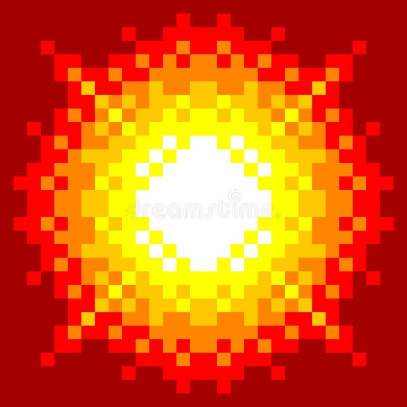 8-Bit-Pixel-Kunst Explosion stock abbildung