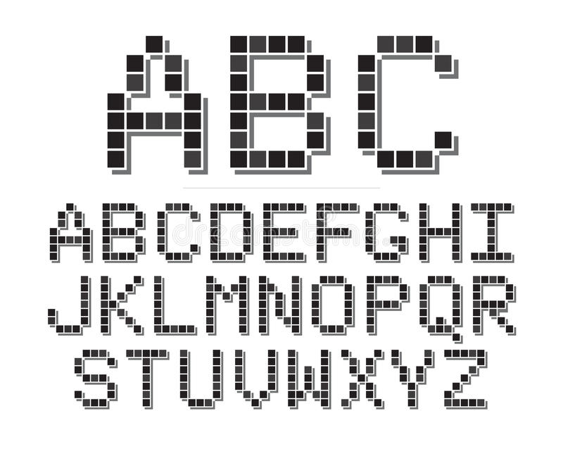 Download Pixel Font stock vector. Image of retro, eps8, mosaic - 29802047
