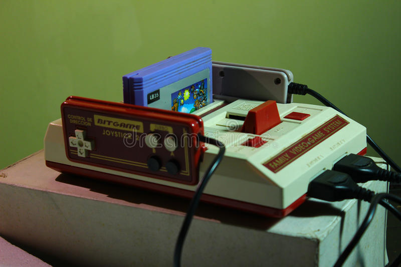 8 bit video game console nintendo stock photography