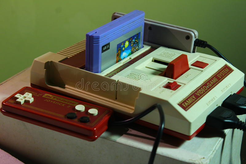 8 bit video game console nintendo royalty free stock images