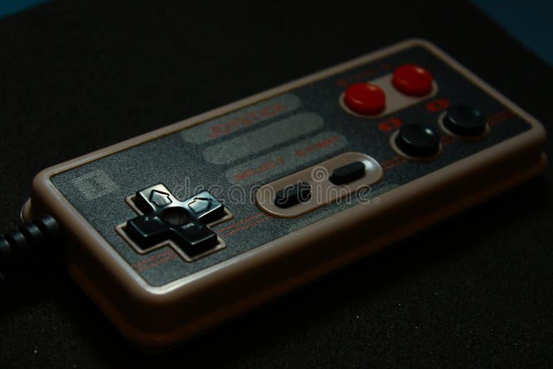 8 bit video game joystick nintendo royalty free stock photos