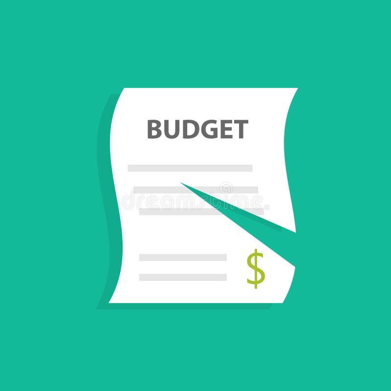 Bitande budget- symbol royaltyfri illustrationer