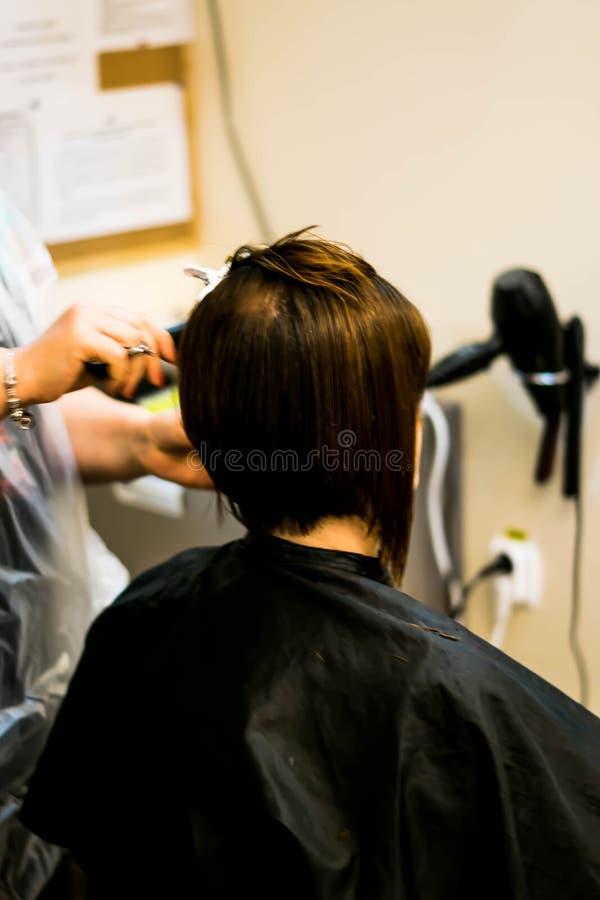 Bitande hår arkivfoton