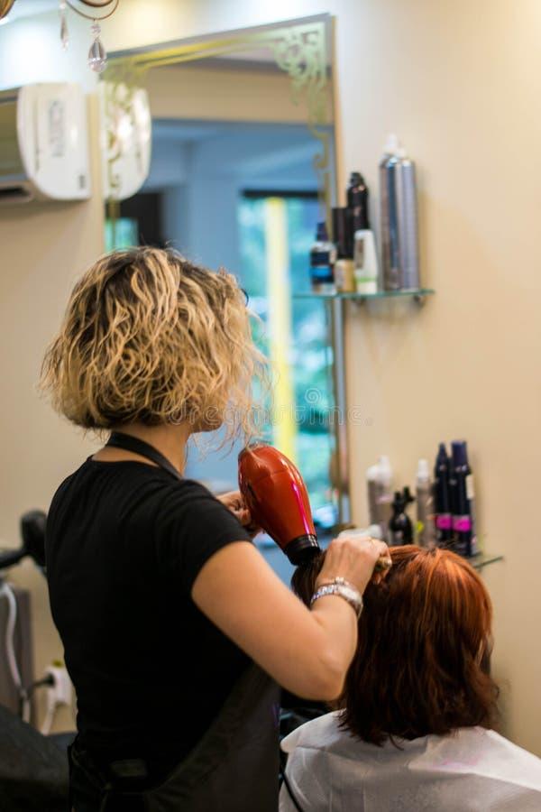 Bitande hår royaltyfri bild
