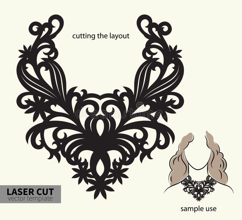 Bitande halsband för vektorlaser royaltyfri illustrationer