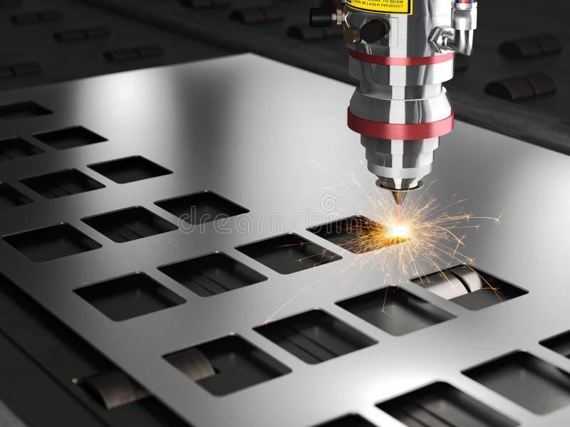 Bitande maskin för laser royaltyfri illustrationer