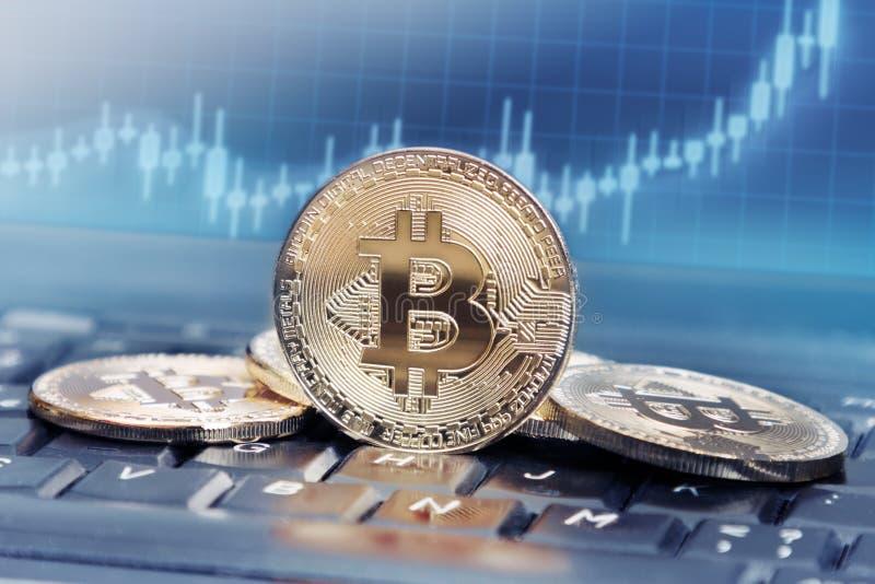 Bitcoin价值 库存图片