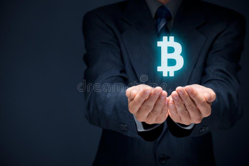 Bitcoin保护 免版税库存图片