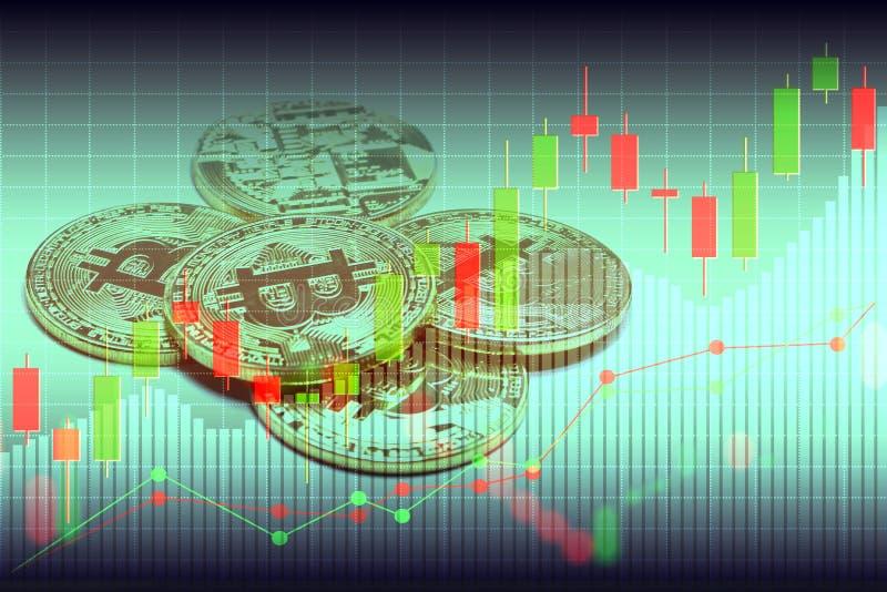 Bitcoin和blockchain数字技术 免版税库存照片