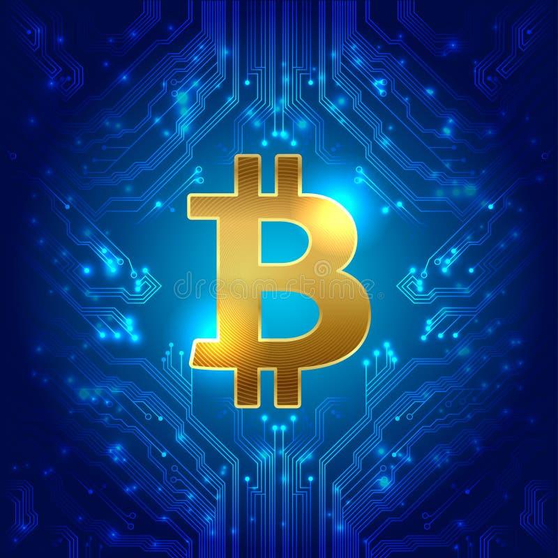 Bitcoin国际性组织金钱 向量 库存例证
