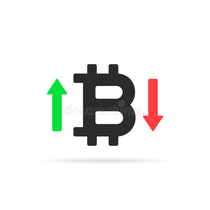 Bitcoin对在白色隔绝的象估计 皇族释放例证