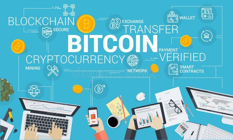 Bitcoin市场 库存例证