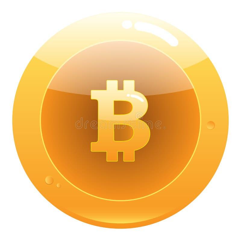 Bitcoin平的象 隐藏货币被咬住的硬币 库存例证