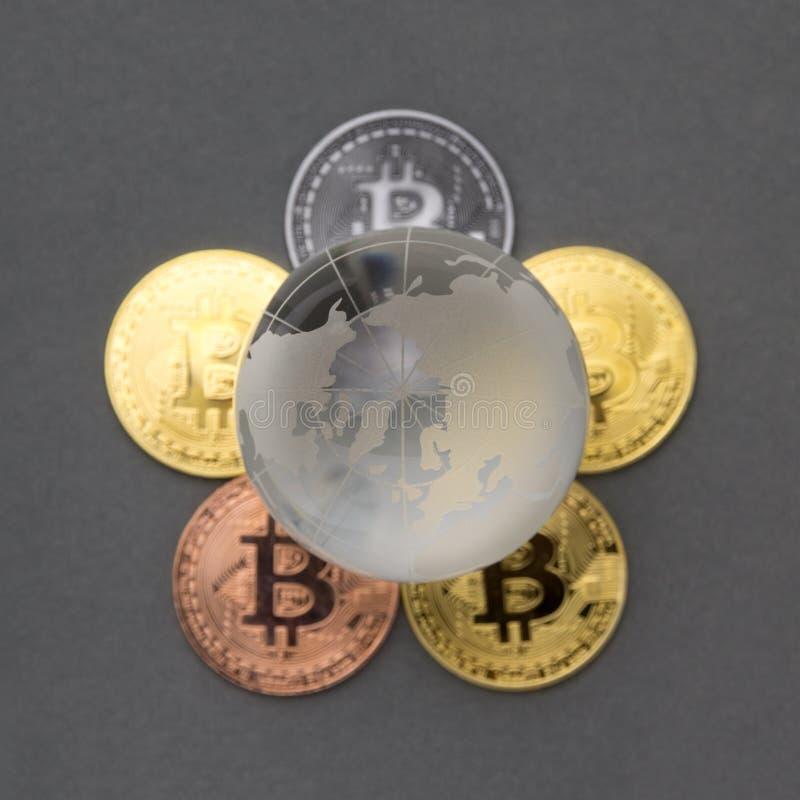 Bitcoin投资概念 库存图片