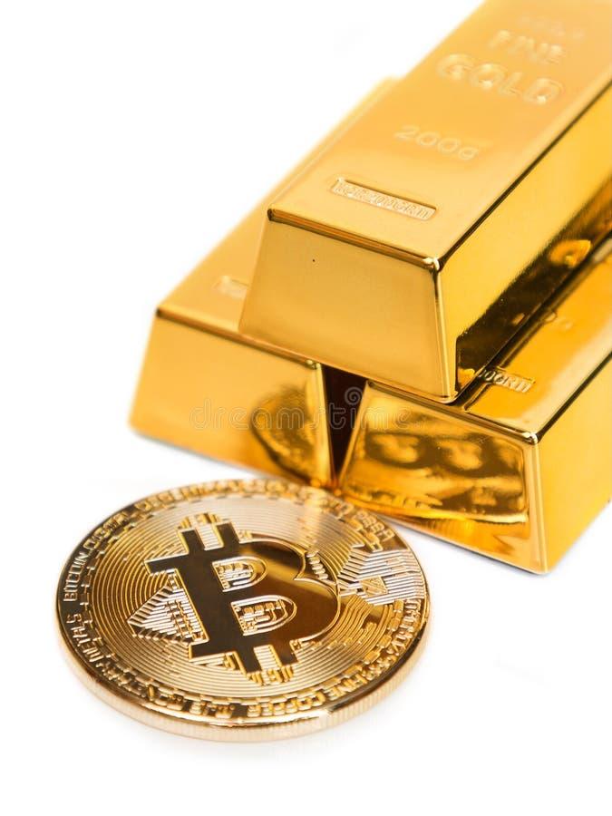 Bitcoin是金子 免版税库存图片
