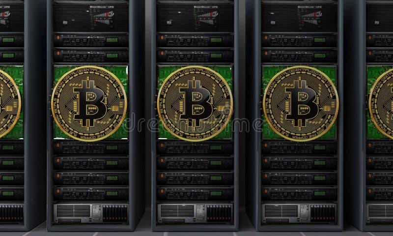 Bitcoin服务器矿工 免版税库存图片