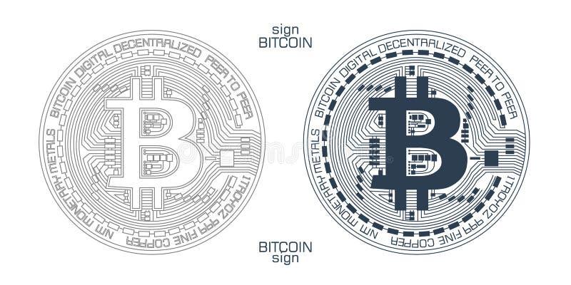 Bitcoin标志传染媒介 皇族释放例证