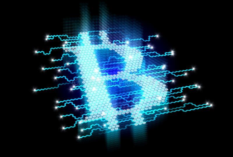 Bitcoin概念 向量例证