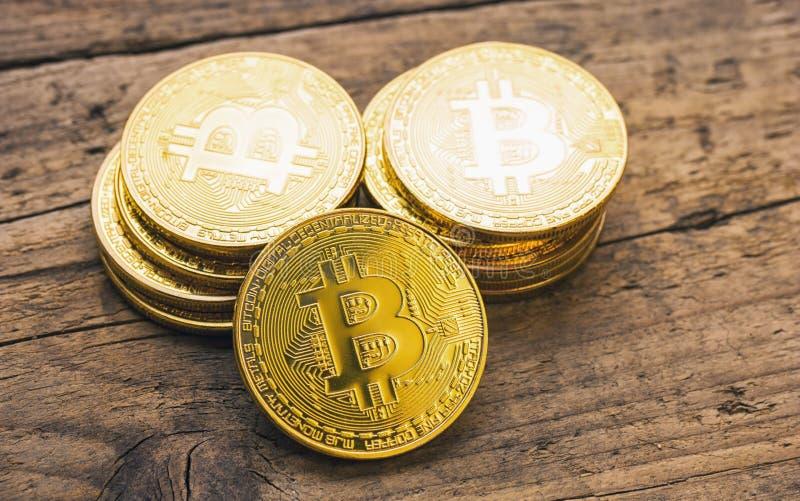 Bitcoin现金-数字式cryptocurrency炒作概念图象 免版税库存图片