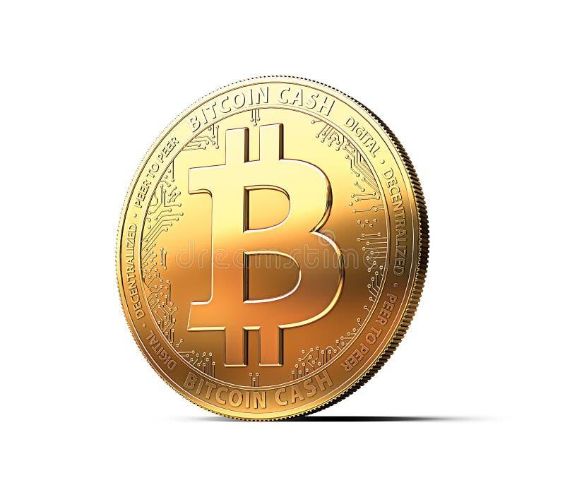 Bitcoin现金BCCBCH cryptocurrency物理概念硬币 向量例证